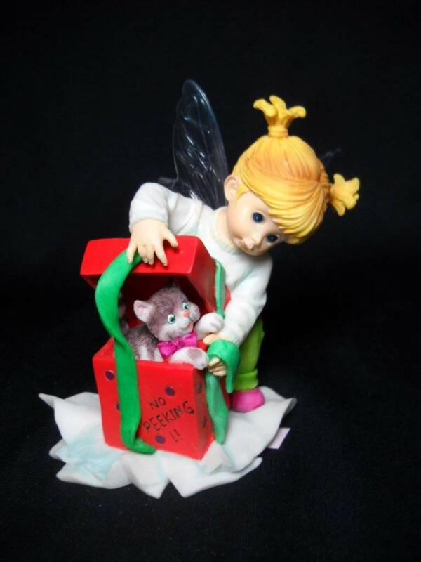"Scarce Enesco Little Kitchen Fairie ""Kitten Love Fairie""  #4028272"