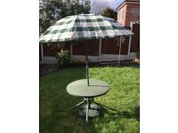 Garden Patio Table with Parasol and Base