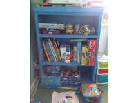 Blue shelf unit