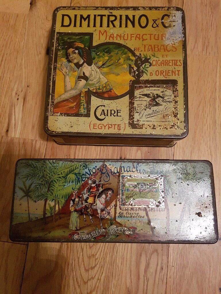 2 x old cigarette advertising tins.