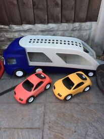 Little tikes lorry with cars