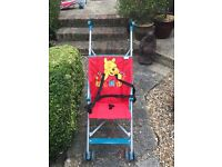 Two fold down/up pencil pushchairs/strollers