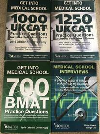 GET INTO MEDICAL SCHOOL BOOKS (UKCAT, BMAT and interview prep)