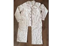 NWT Women's Primark Medium Size 10 / 12 Sleeping Night Suit Heart Print Ivory White Shirt Pyjama