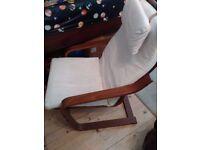 Ikea chair cream