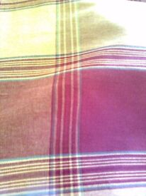 Pair of Red and Mustard Curtains