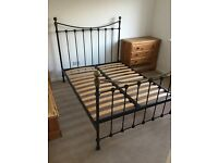Metal Frame Double Bed Base and mattress