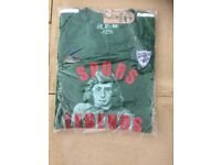 Retro Pat Jennings Spurs T-shirt and club badge