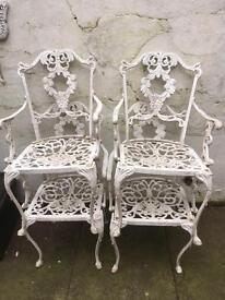 Iron garden chairs