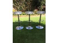 3 x Bottle top bar stools