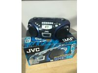 JVC Portable CD / Cassette Tape Player - FM Radio comes with remote - in box