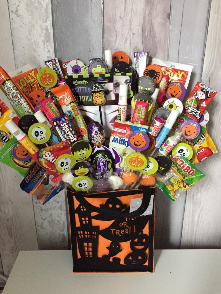 Trick or treat bags filled with sweets
