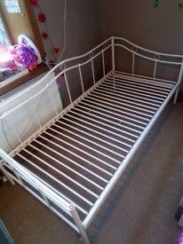 Girl's Single Bed White Metal frame