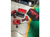 Snap on battery guns