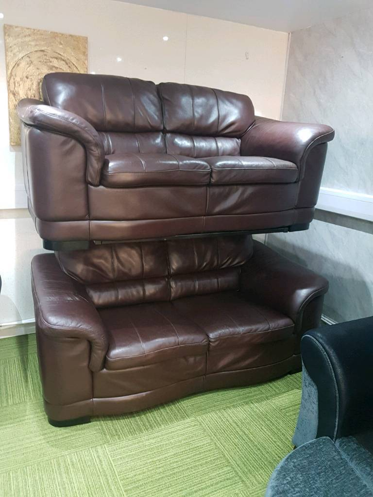 Gorgeous Chocolate Brown Leather Suite Quality Suites And Sofas