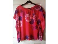 NEW PRIMARK SQUARE CROP FLORAL TOP SIZE 12