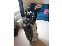Golf set for sale including clubs, bag and trolley