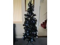 Next Slim Pre-Lit Xmas Christmas 6ft Tree VGC