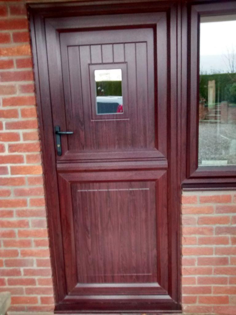 UPVC mahogany doors Excellent condition 1 x stable door type, 1 x ...