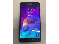 SAMSUNG NOTE 4 32GB UNLOCKED WITH RECEIPT AND WARRANTY
