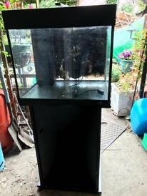 55l fish tank with cabinet