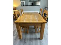 Barker and Stonehouse Solid Oak Dining Table & 6 Chairs