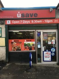 Busy off license store for sale