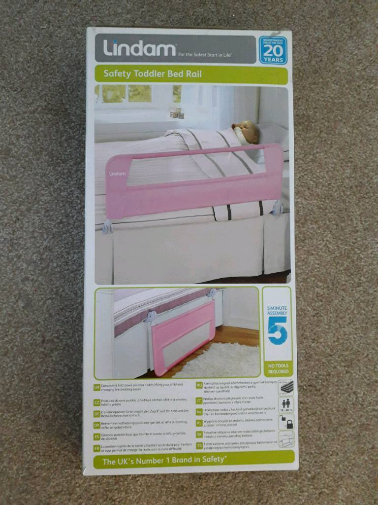 Lindam Safety Toddler Bed Rail New Pink