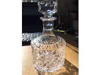 Cut glass whiskey decanter