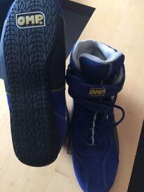 OMP Race boots,Sparco Kit Bag,Balaclava and Gloves