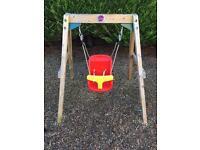Plum wooden baby garden swing