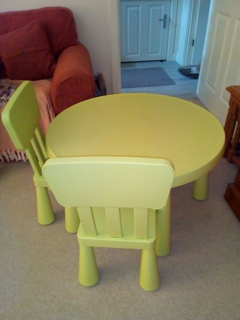 Ikea Children S Table Chair Set In Light Green