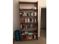 Large solid pine bookshelf for sale