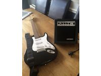 Childs guitar and amp