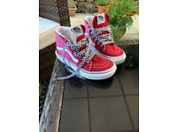 Kids pink and red vans