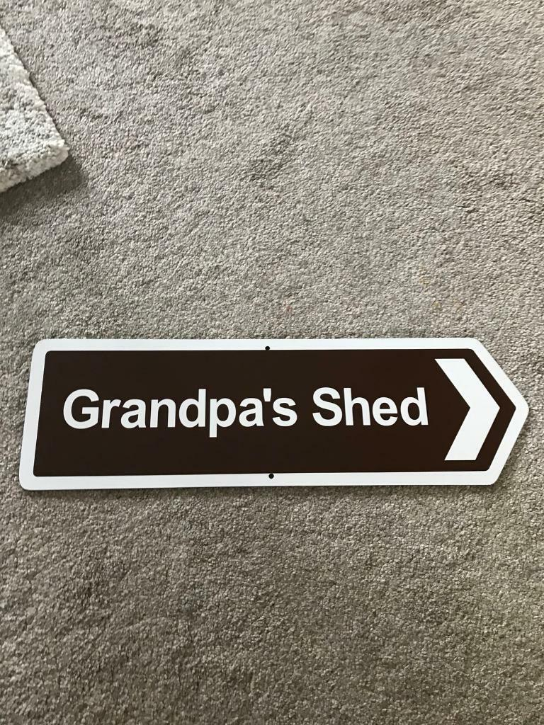 Grandpa's Shed Street Sign Plaque Decoration