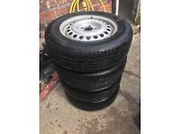 Ford transit connect wheels and tyres.