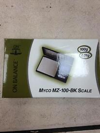 Scale brand new myco mz -100-bk scale.