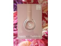 Dre Beats Solo2 Wireless Headphones Rose Gold Special Edition NEW AND UNOPENED