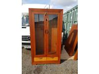 Huge display cabinet with side draws