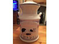 Milk churn biscuit jar