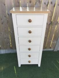 Solid tall chest of drawers (delivery available)