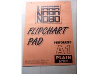 Nobo A1 Flipchart Pads Plain Pack of 5 x 40 Sheets 80 gsm Paper Perforated at Head 346 31165