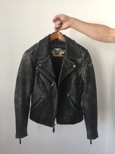 Vintage Harley Davidson Leather Biker Jacket for sale  Clapham, Tooting