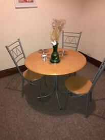 Dining table 3 chairs