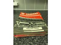 Arsenal programmes from 1975/1979