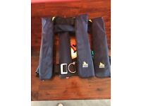 XM Quickfit 150N Automatic (gas) Life Jackets (x 2)