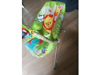 Fisherprice rain forest curve vibrating chair excellent condition used as a spare . As new