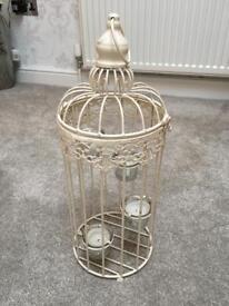 Tea light lantern, bird cage style x 2