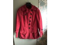 Next red coat size 8